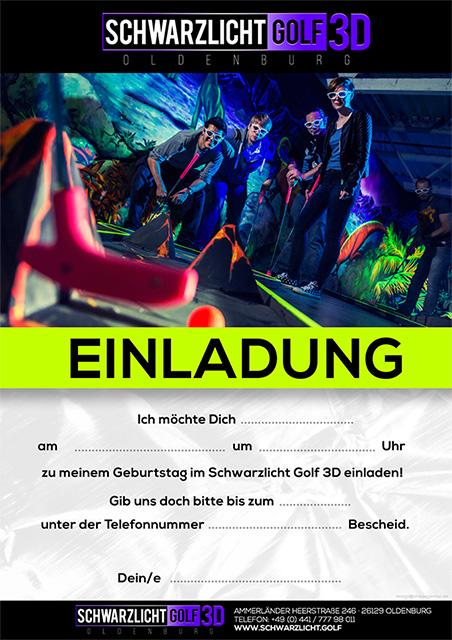 Schwarzlicht Golf 3D | Oldenburg